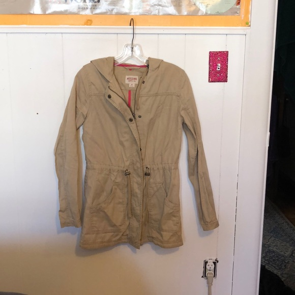 "Mossimo Supply Co. Jackets & Blazers - khaki ""raincoat"" style jacket"